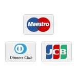 Join by AMEX, Maestro, Diners, or JCB